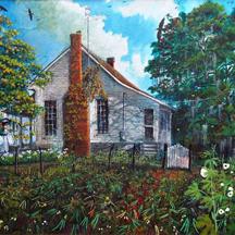 Bud Harris  Peas and Okra , Oil on Canvas