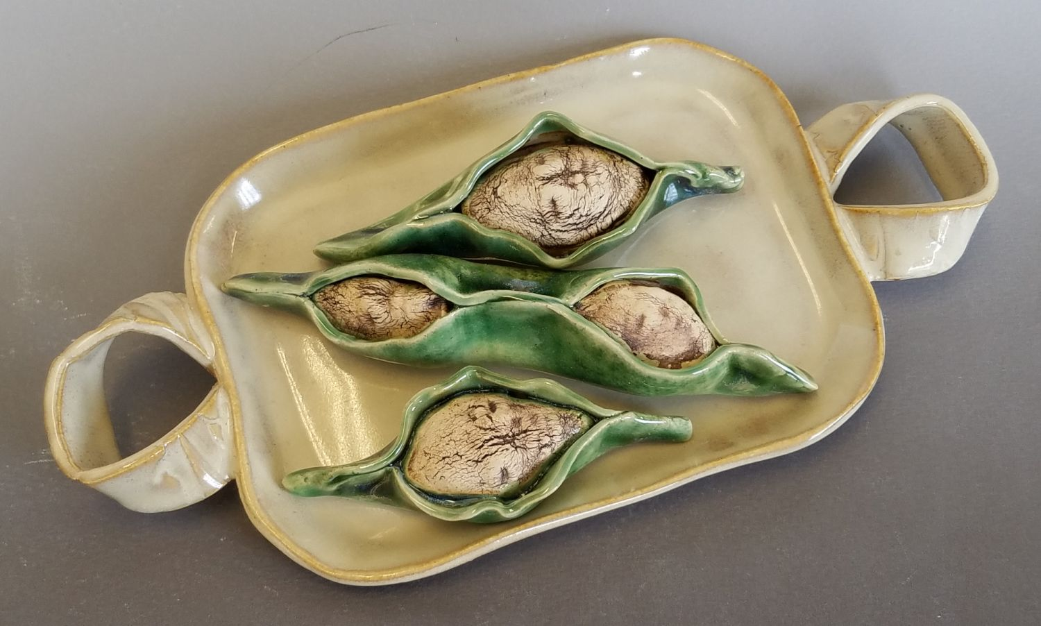 Ceramic piece,  Your Pain is the Breaking of the Shell , by Teri Hartmann