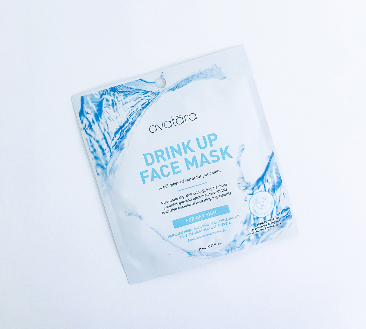 Drink Up Face Mask - FOR DRY SKINA tall glass of water for your skin.Rehydrate dry, dull skin, giving it more youthful, glowing appearance with this exclusive cocktail of hydrating ingredients.PARABEN FREE, SILICONE FREE, MINERAL OIL FREE, DERMATOLOGIST TESTED.R70.00 - AV001