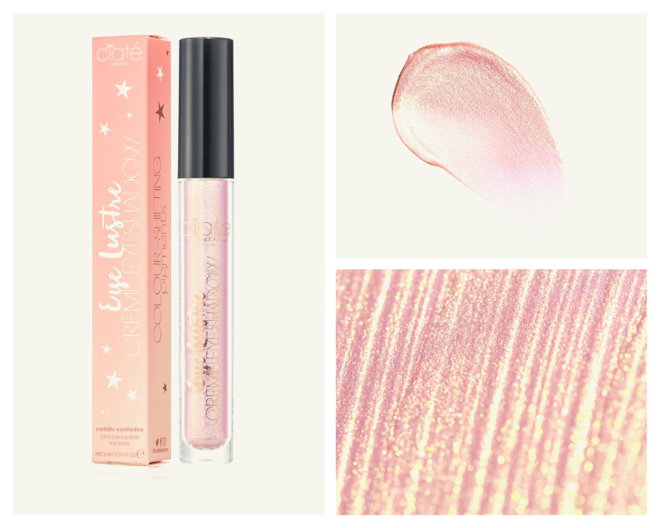 CIATE LONDON - EYE LUSTREGLITTER CRÈME-LIQUID EYESHADOW - Create long-lasting, shimmering eye looks with Eye Lustre.The metallic, glittering liquid shadow can be swiped on for full coverage lustre, blended out for sheer sparkle or applied over any eyeshadow as a topper.Available in shade: Cupid - universal rose goldVegan-friendlyGluten-freeParaben-freeR250 ($22)