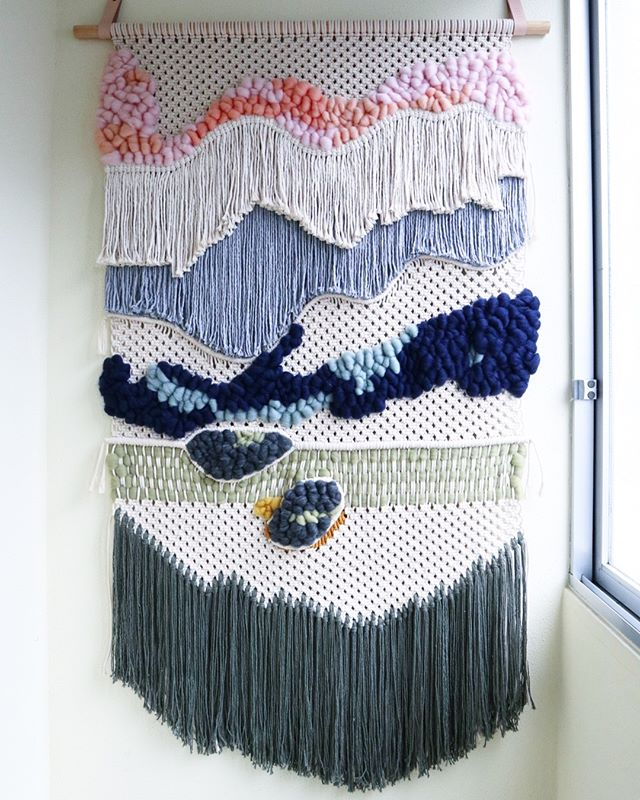 Textile Landscape n009. • • • #barbudoaborrecido #boredbeardedman #textilelandscape #macrame #weaving #textileartist #makersmovement #makersgonnamake #slowliving #fiberartist #fiberart #modernmacrame #contemporarymacrame #wanderlust