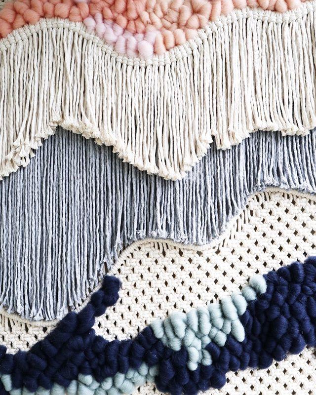 Textile Landscape n009\Details. • • • #barbudoaborrecido #boredbeardedman #textilelandscape #macrame #weaving #textileartist #makersmovement #makersgonnamake #slowliving #fiberartist #fiberart #modernmacrame #contemporarymacrame #wanderlust