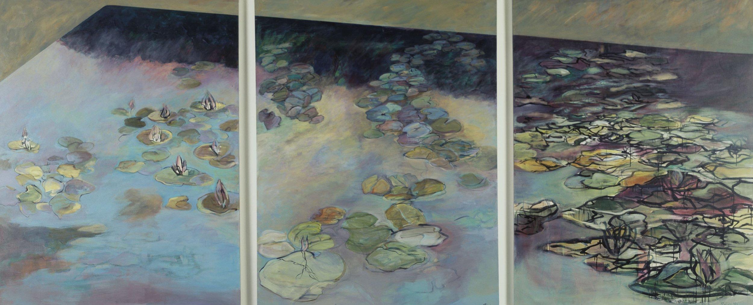 Le Ninfee Triptych
