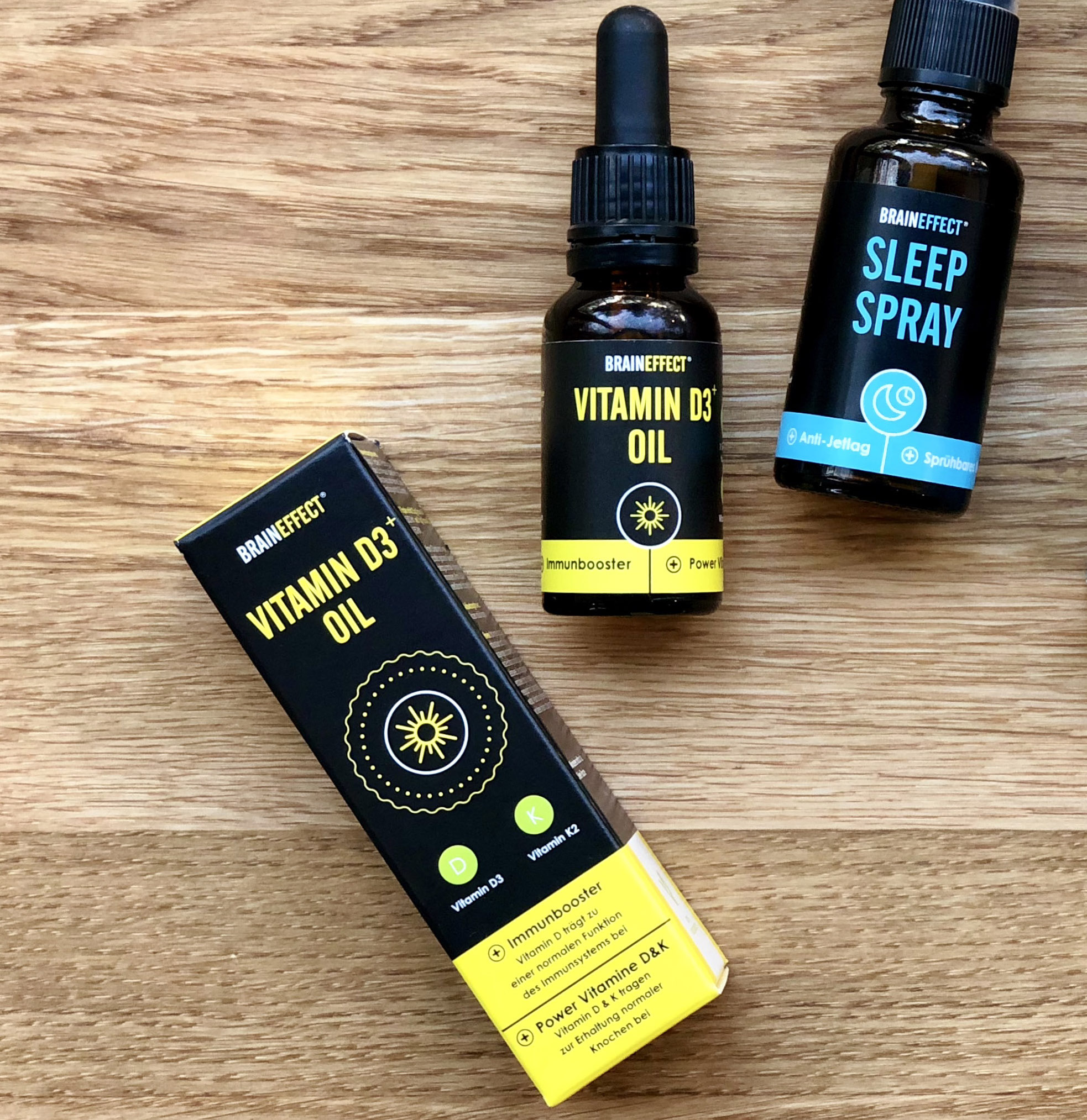 THE WINTER FLU-FIGHTER - Our founder Gundula swears by these daily drops, after surviving last winter without a single cold! Brain Effect Vitamin D3 + Oil, 19,90€Image: brain effect