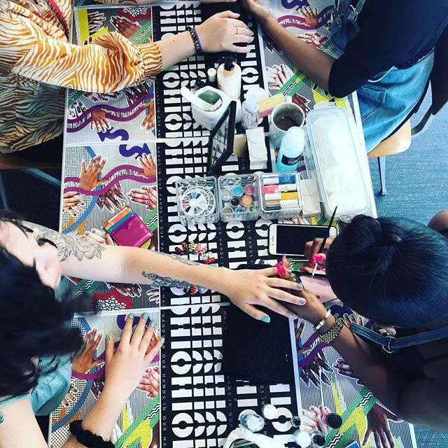 📸: we're hosting a pop-up nail bar @kobaltmusic offices today - check out the work of the talented Technitian's from our community nail bars #youngtalent