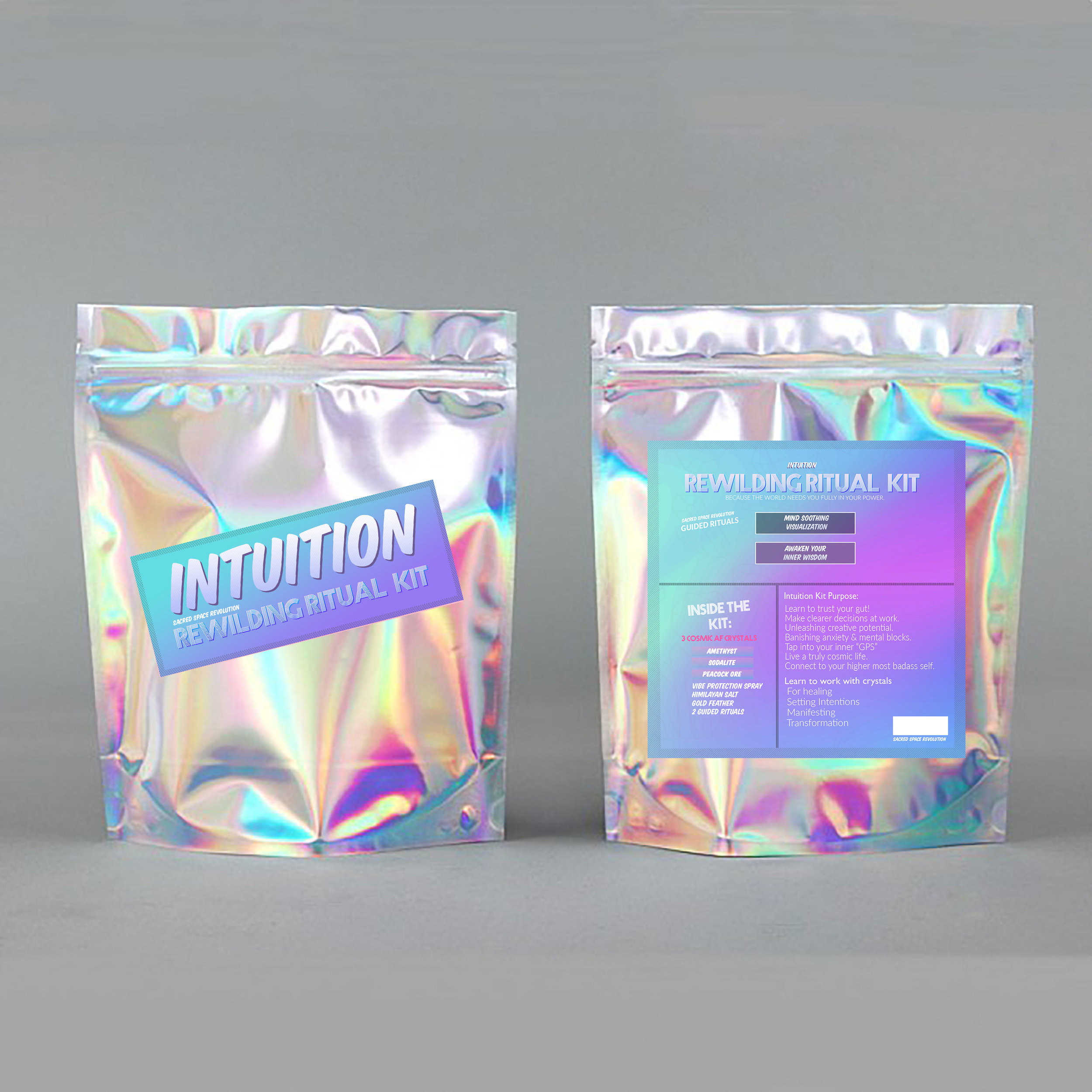 "INTUITION KIT   Learn to trust your gut! Make clearer decisions at work.Unleash creative potential. Banish anxiety & mental blocks Tap into your inner ""GPS"" to live a truly cosmic life. Connect to your higher most badass self. Vibe Protection & Energy Detox"