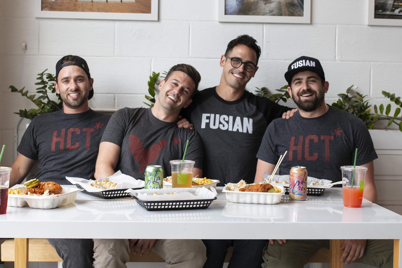 Fusian staff, four males
