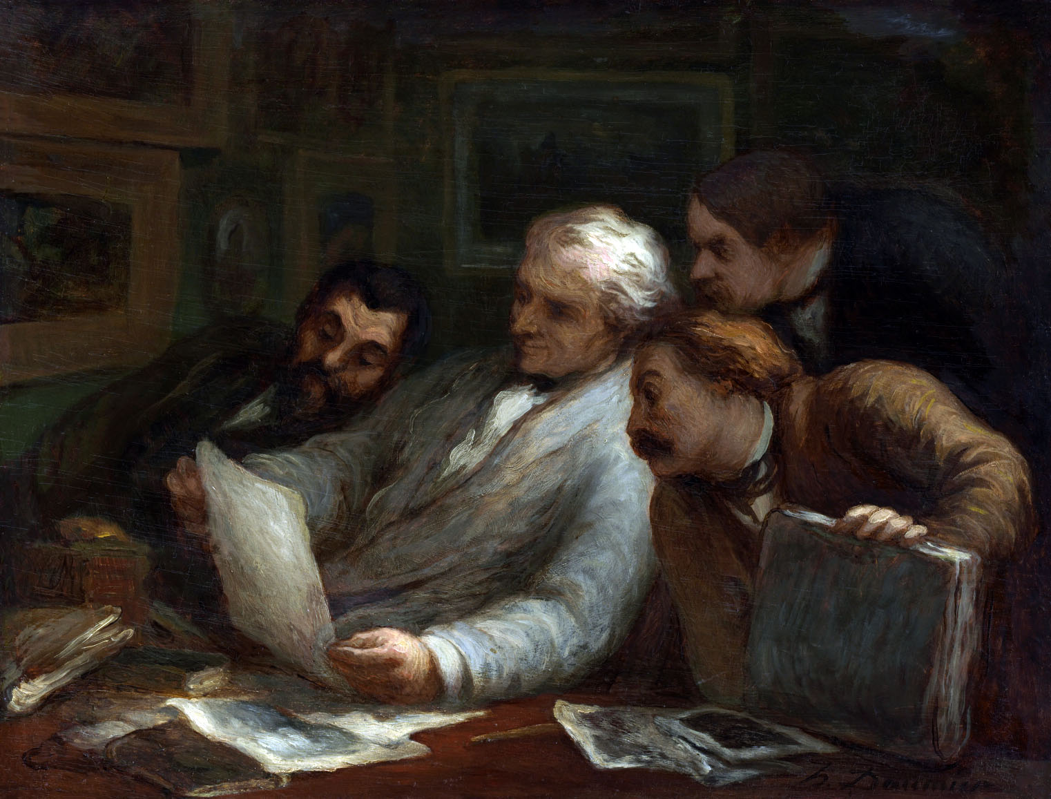 Honoré Daumier´s  The Print Collectors  shows the frenzy, passion, intense desire, mixed with jealousy and competitiveness, of a group of nineteenth-century print collectors.