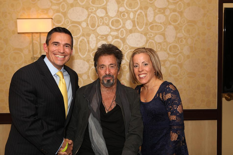 Craig and Jenny D with the one and only Al Pacino!