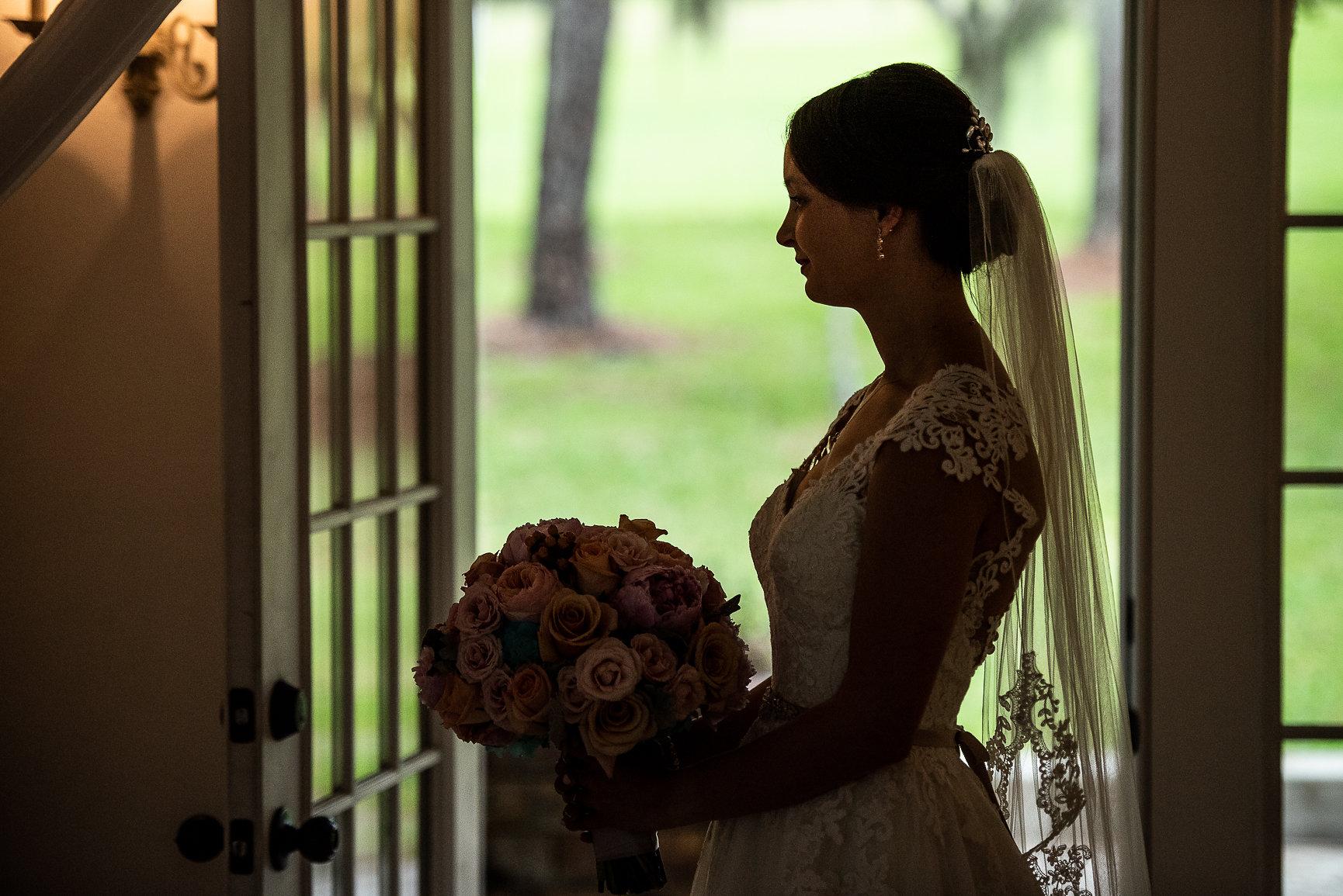 bride holding her wedding bouquet