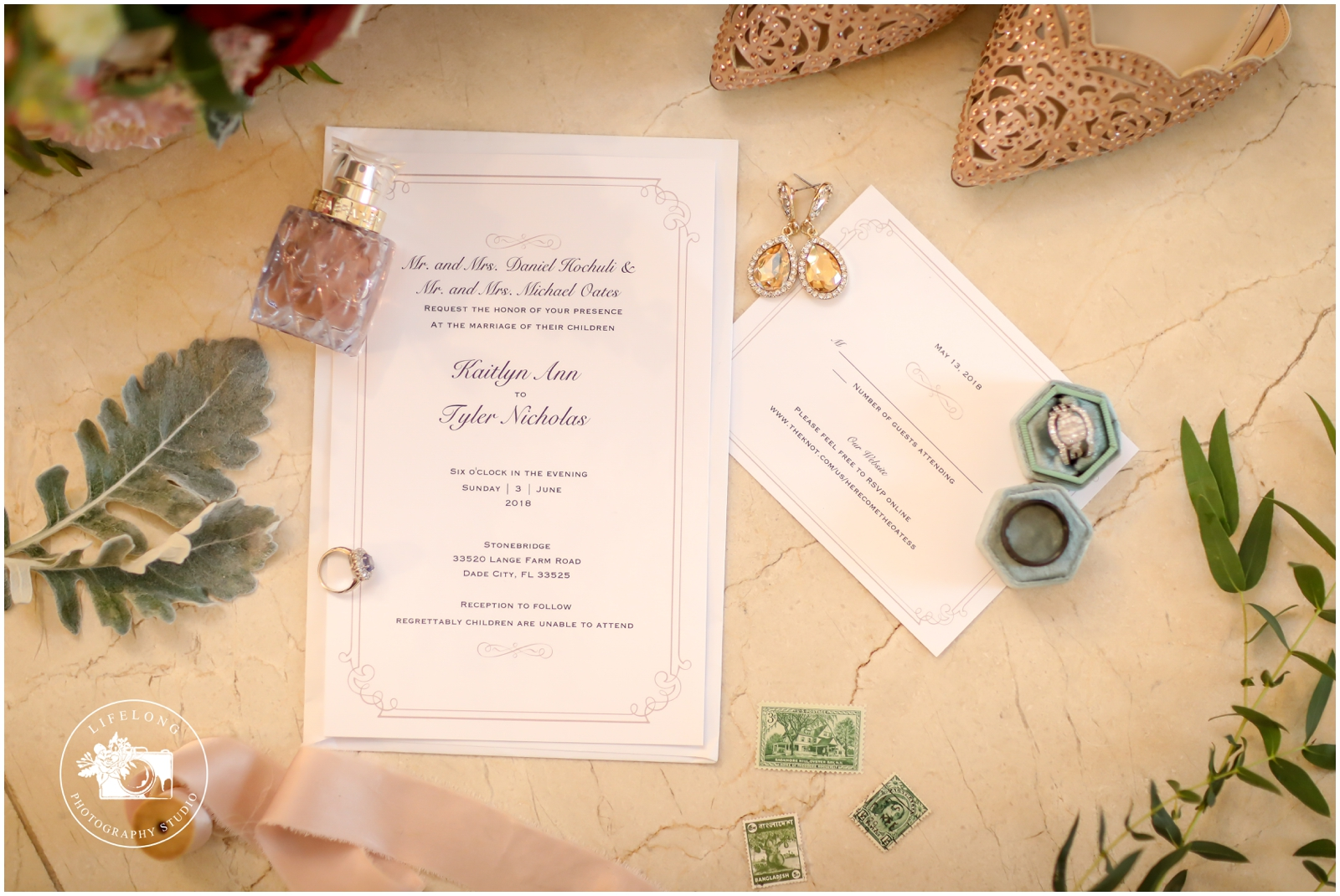 Military wedding invitation