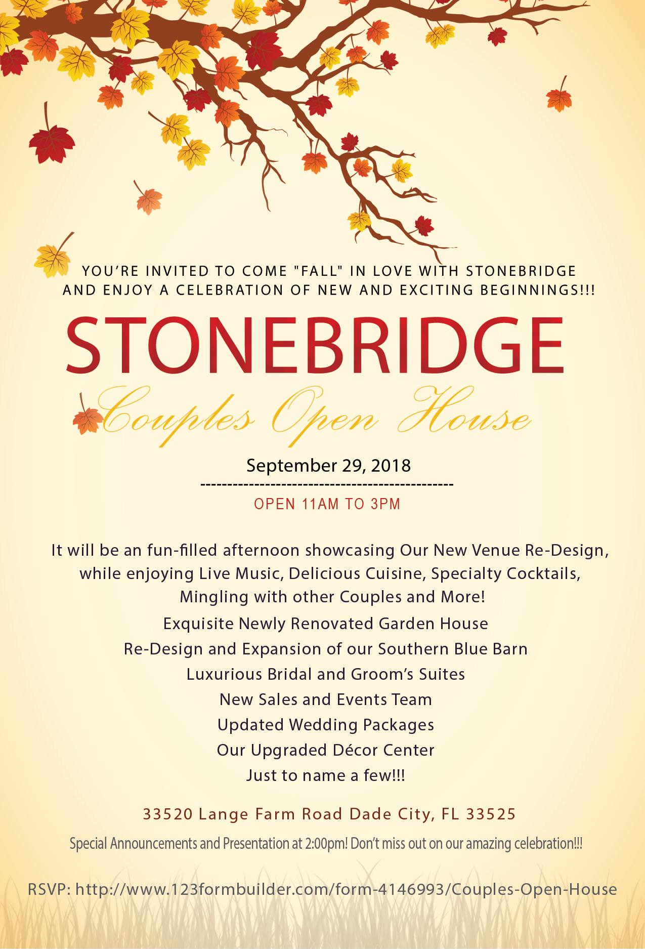 Stonebridge Fall Open House