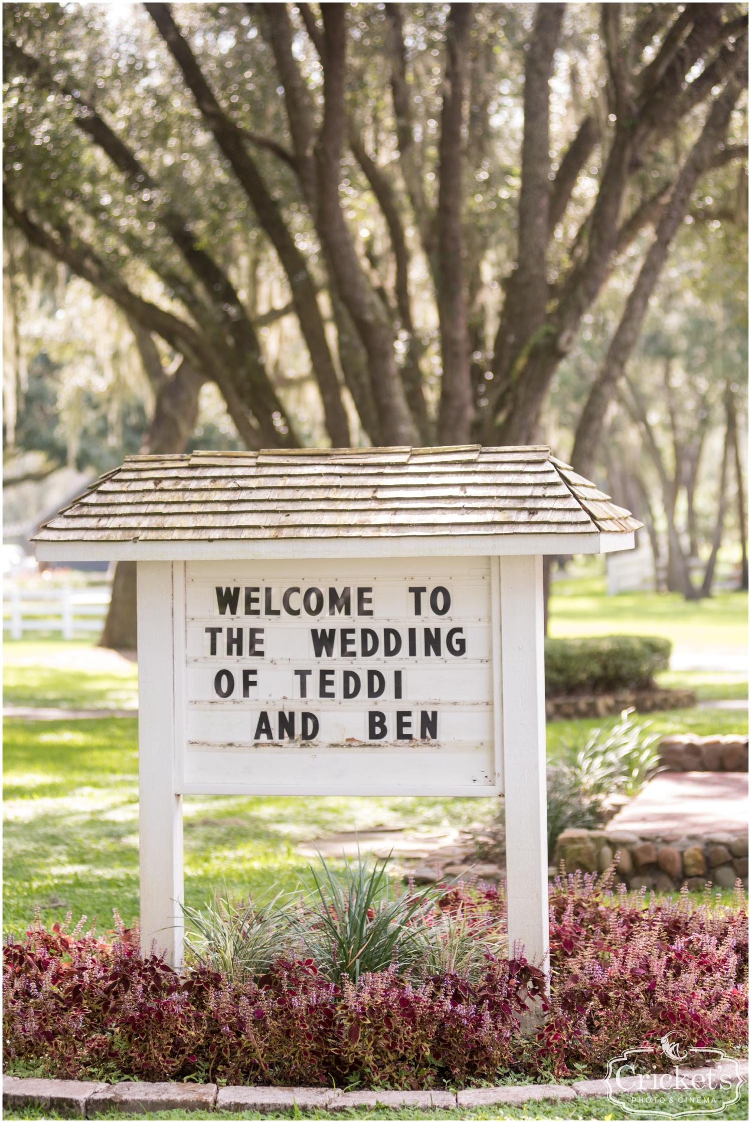 Florida Wedding at The Garden House
