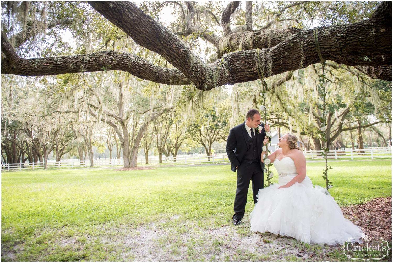 bride on the swing at Stonebridge Weddings & Events