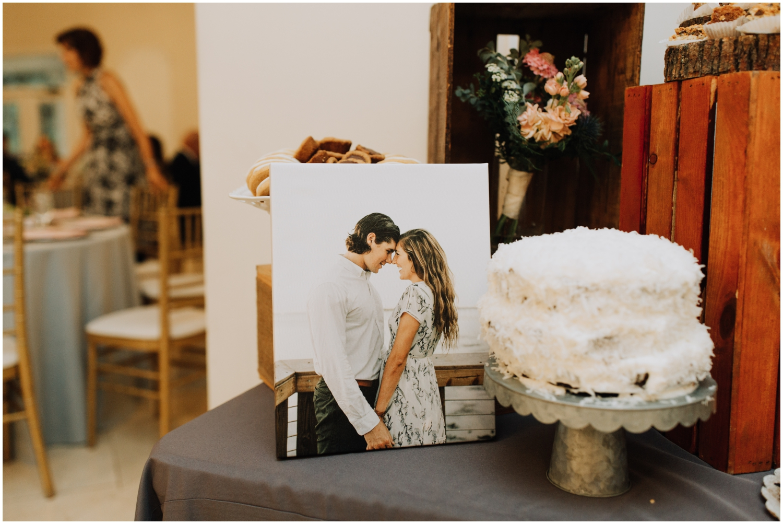 wedding reception picture decor