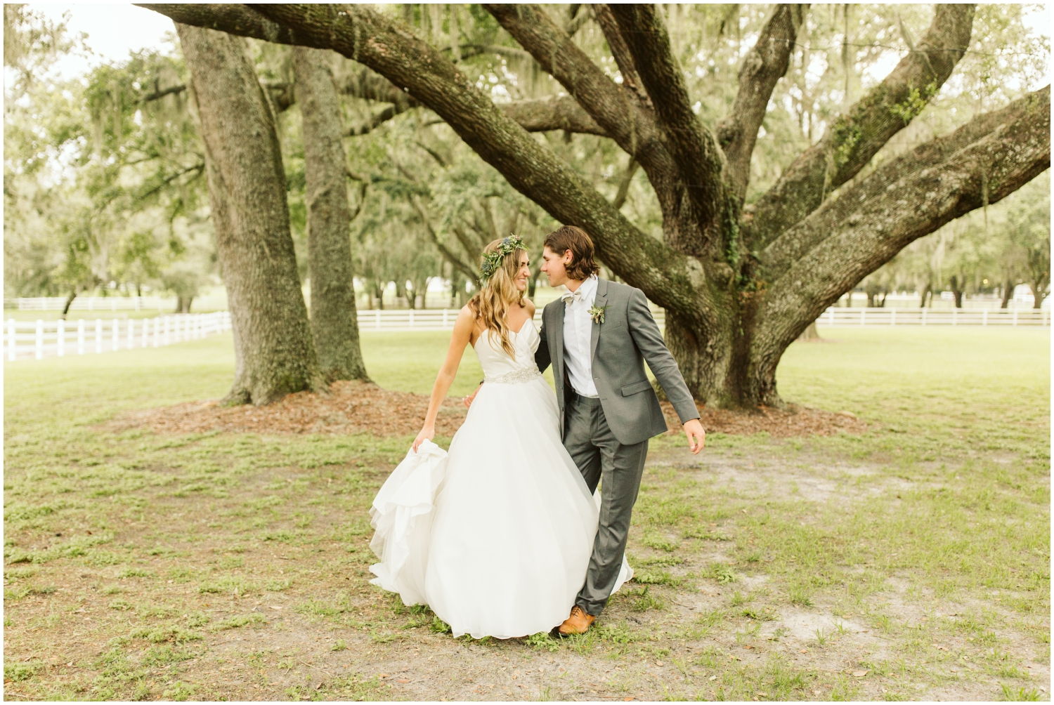 bride and groom at their Florida wedding