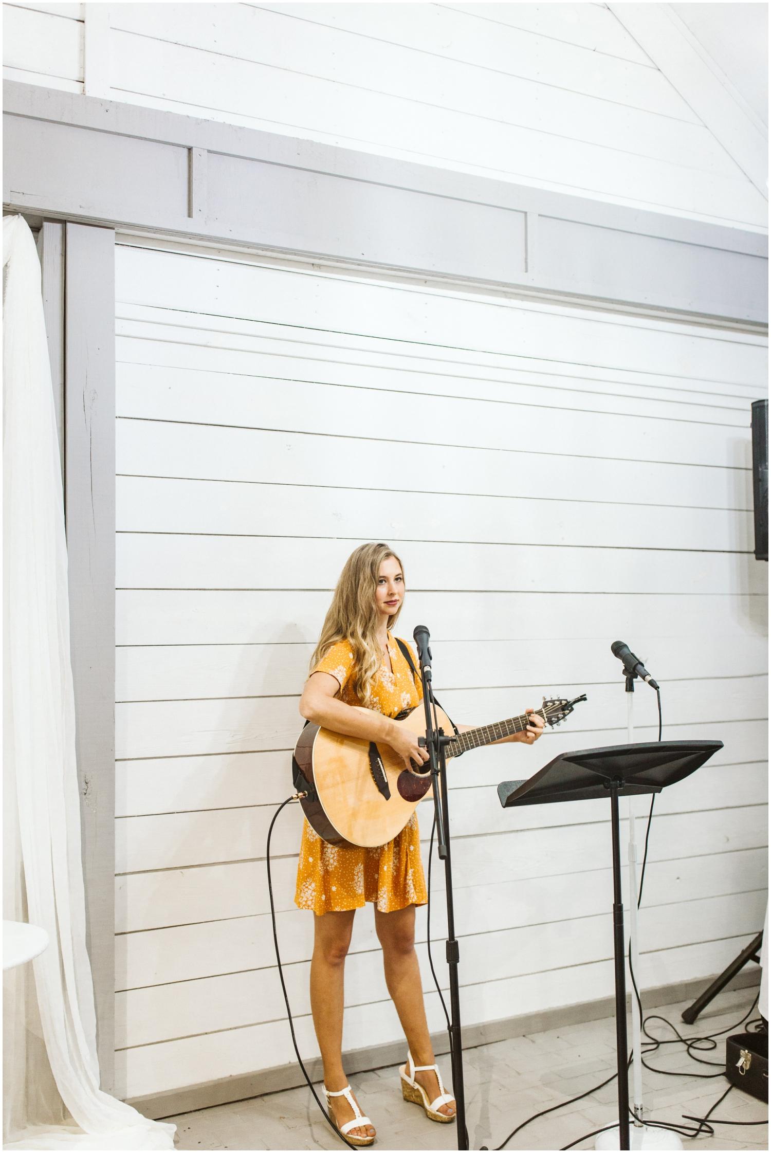 guitarist during wedding ceremony