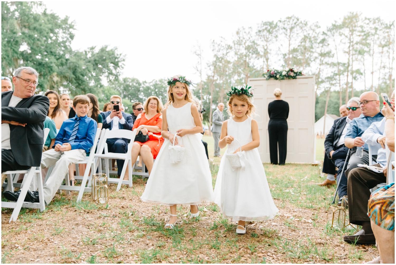 Flower Girls at the Wedding Ceremony