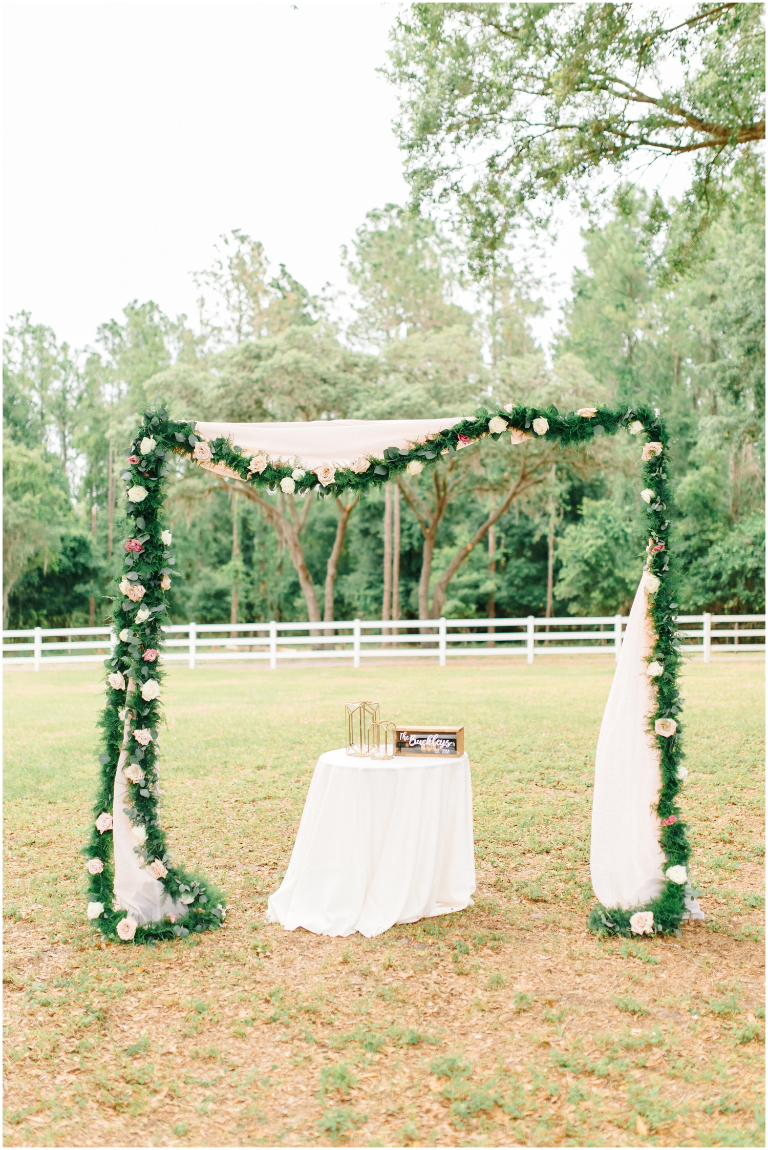 Outdoor wedding arch inspiration
