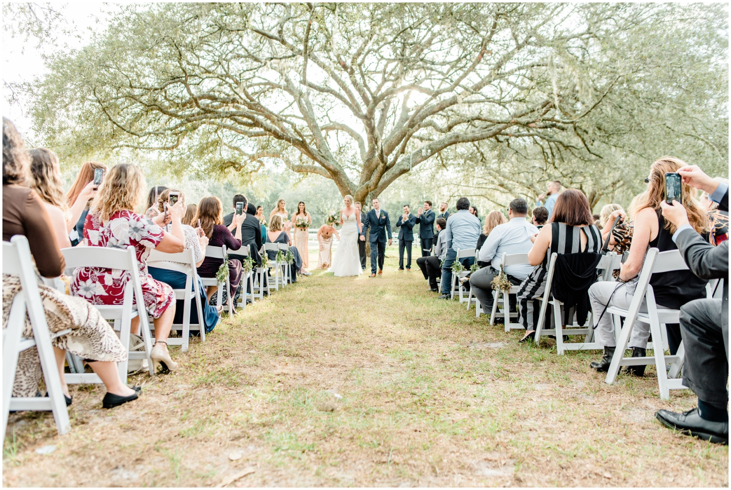 Outdoor wedding ceremony at The Lange Farm
