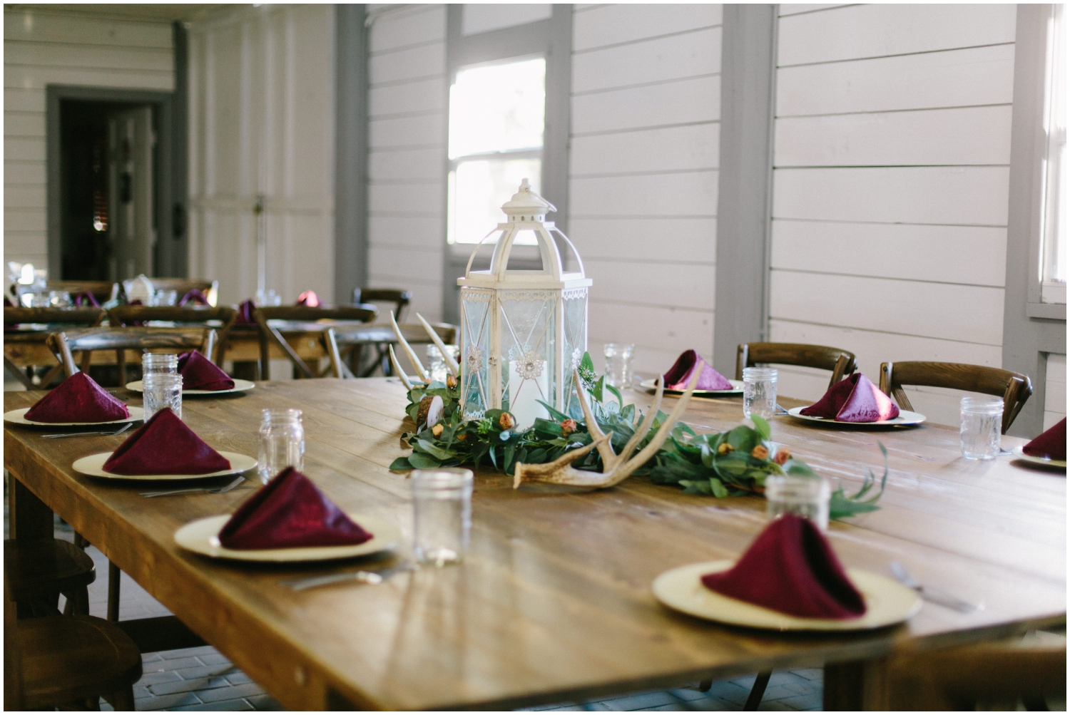 Florida wedding tablescape