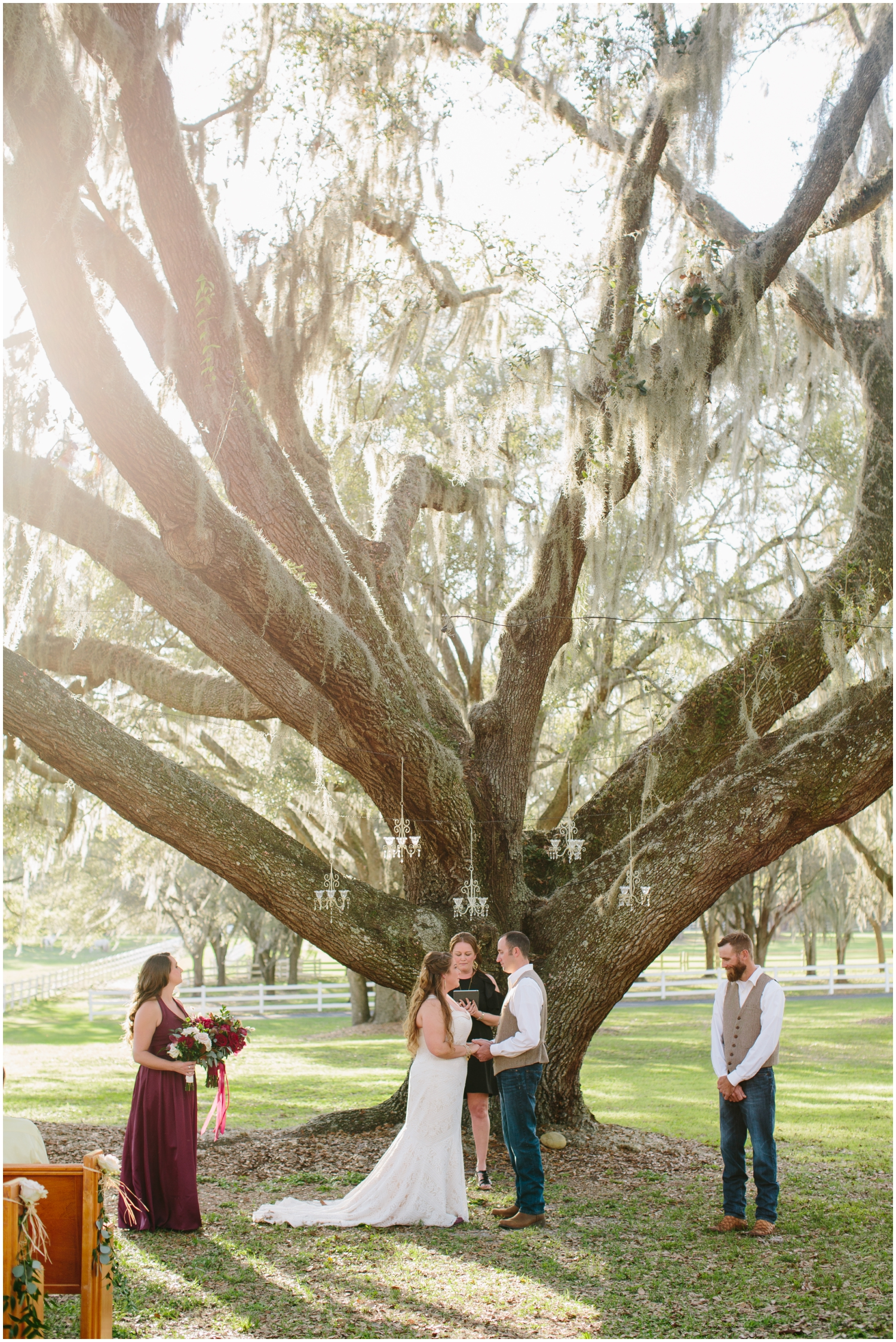Modern country wedding in Florida