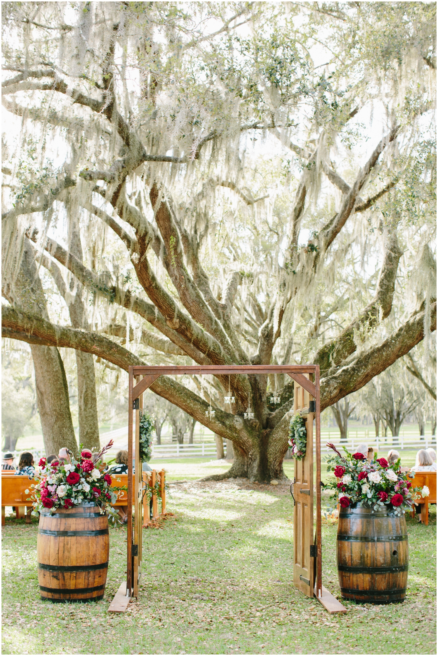 Outdoor wedding ceremony at Stonebridge