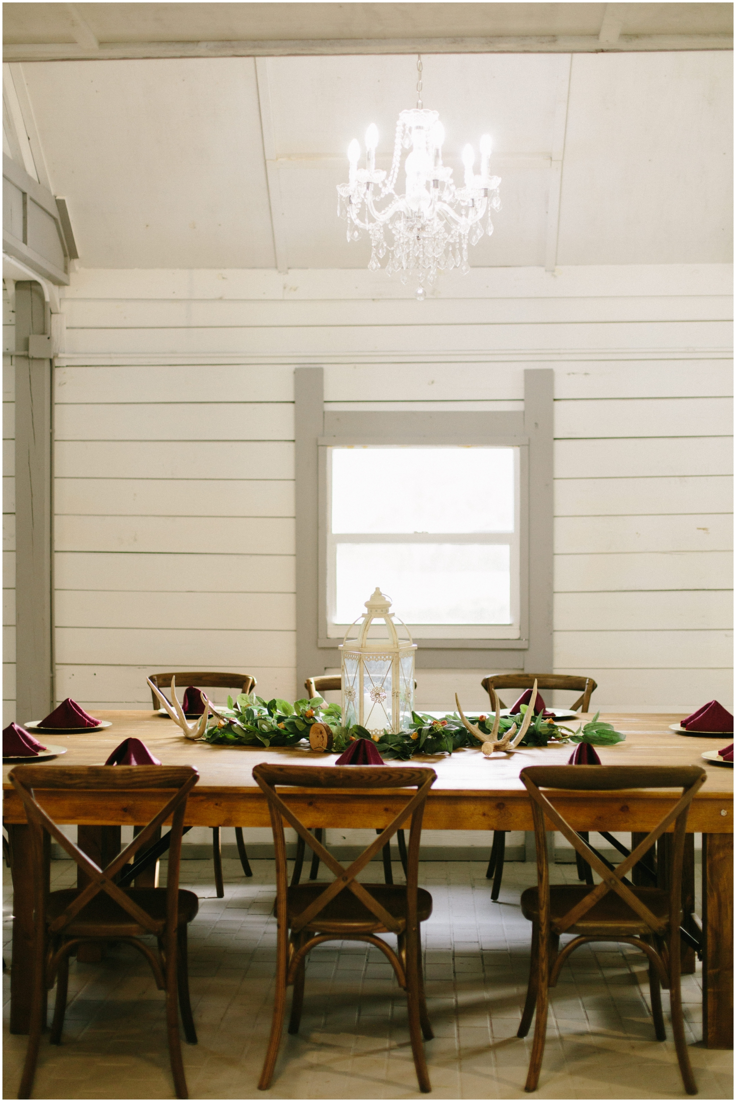 Modern country wedding tablescape