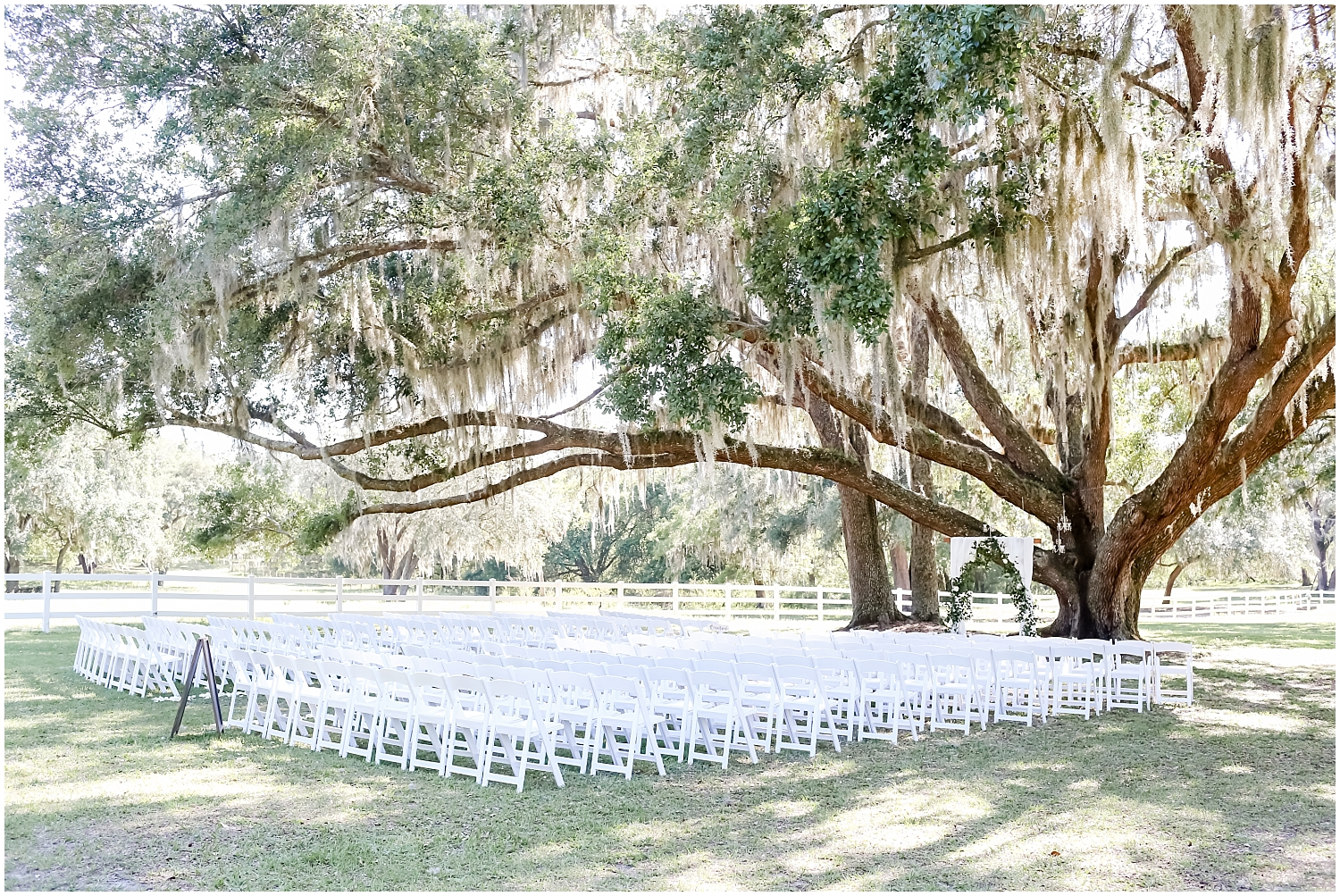 Outdoor wedding ceremony at Stonebridge Weddings & Events