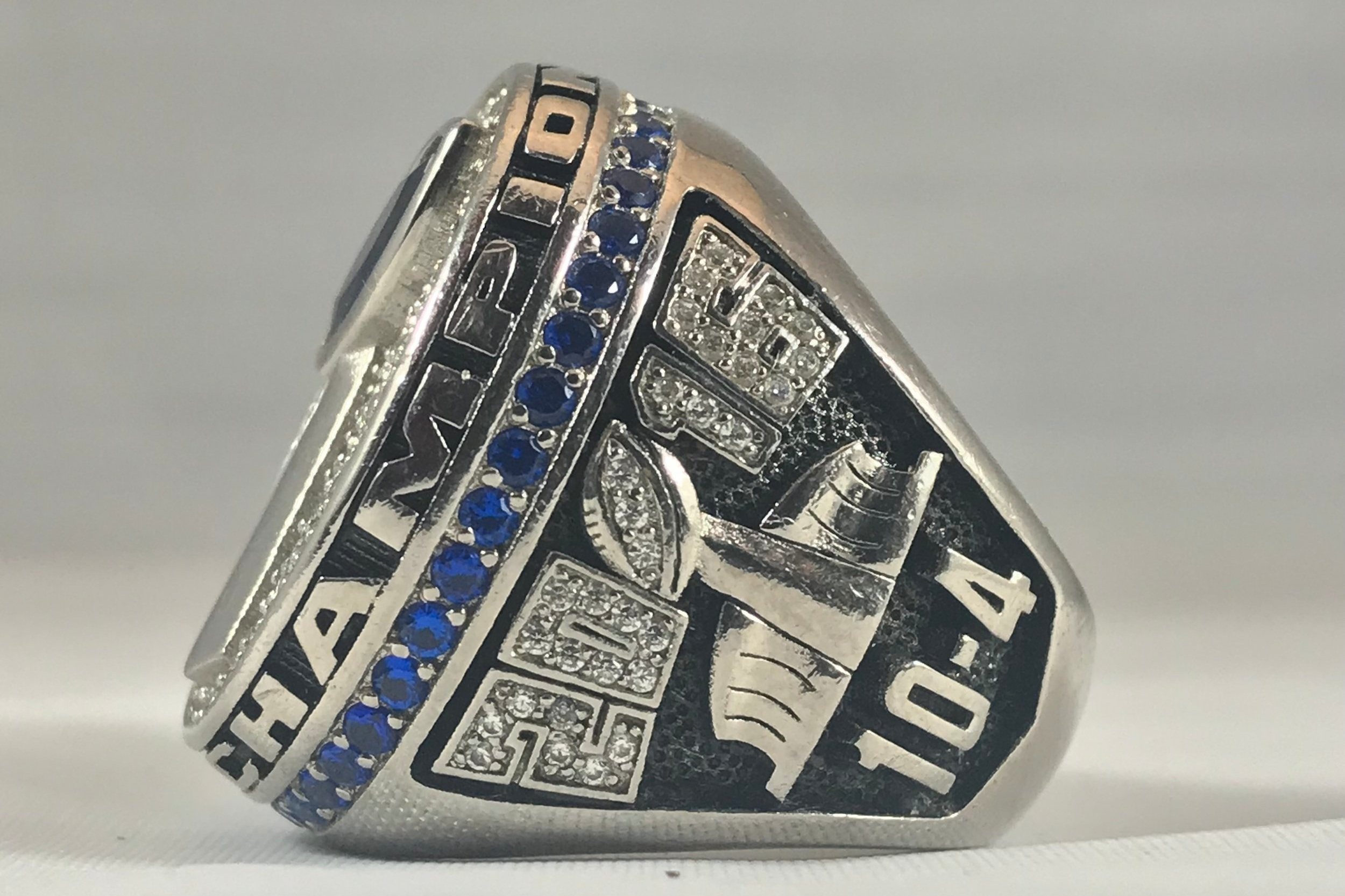 Show off your Season Record - Whether you went undefeated or had a losing record you still came home with a championship and thats all that matters. If you don't want your record this can be another place to add up to 4 characters.*FAQ - Yes you can have ties on your ring (ie. 12-1-1), but only with v1 designs.