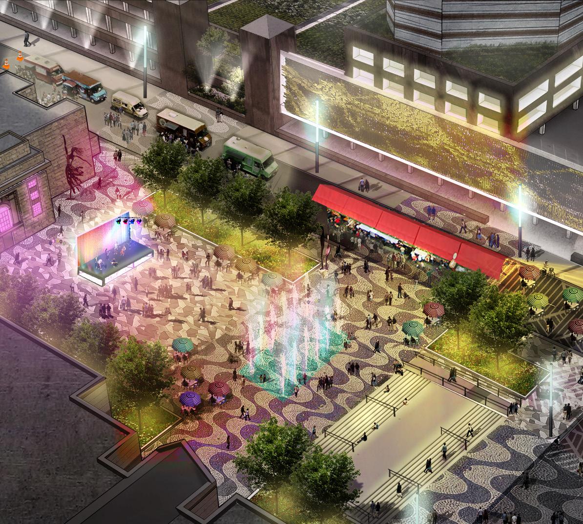 CAROLINA THEATRE-CONVENTION CENTER PLAZA - NIGHT VISION