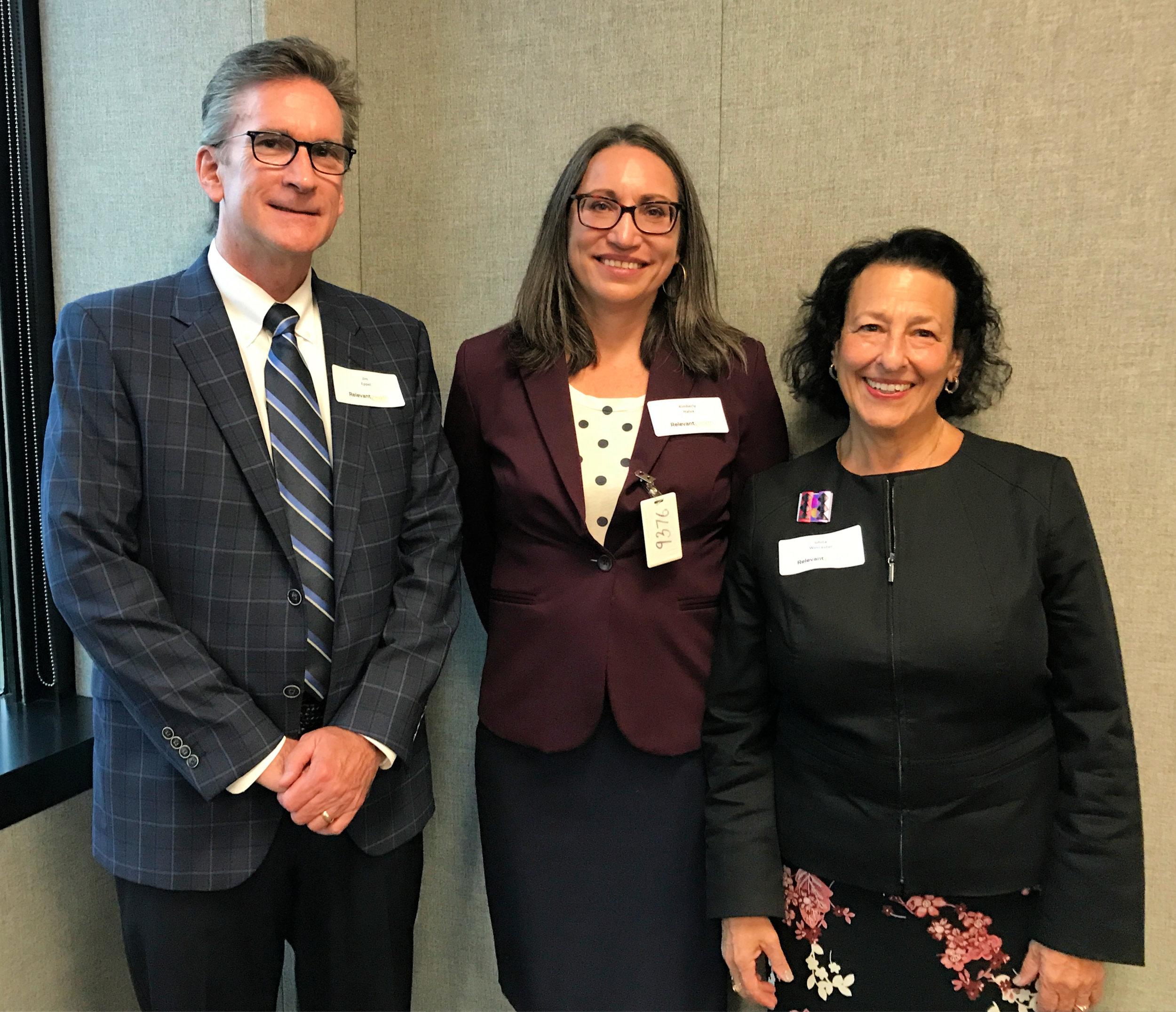 Panelists Jim Eppel, Kimberly Halva, and Ghita Worcester