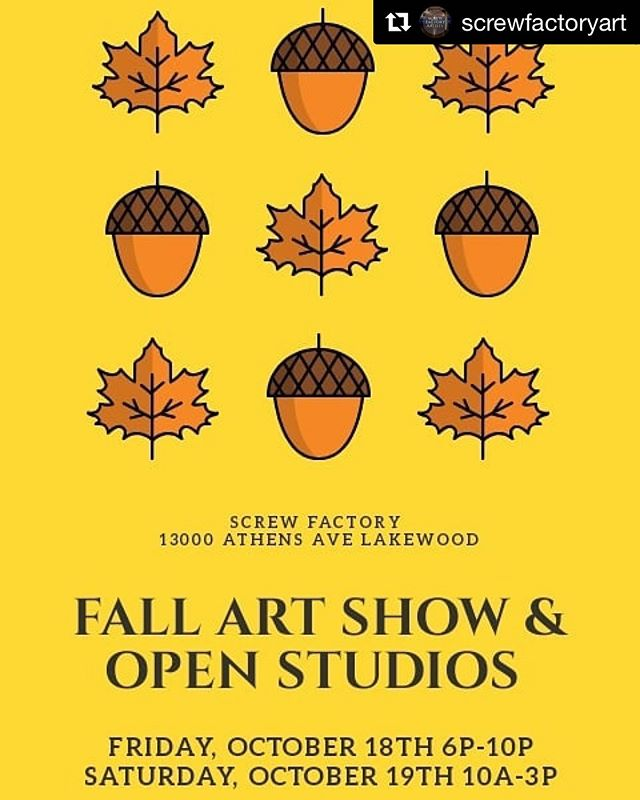 #Repost @screwfactoryart with @get_repost ・・・ See you soon 👻🎨🖼🎃 ・・・ Check it out! Next week I'll be selling my work at the Screw Factory Fall Art Show and Open Studios. My work will be set up on the third floor in @ginadesantisceramics classroom. Not too early to start looking for unique Christmas gifts 😉 • • • • #ragpottery #pottersofinstagram #pottery #ceramics #makersgonnamake #handmade #handcrafted #artisan #functionalpottery #ohiocreative #ohiomade #handmadeinohio #shopsmall #screwfactory
