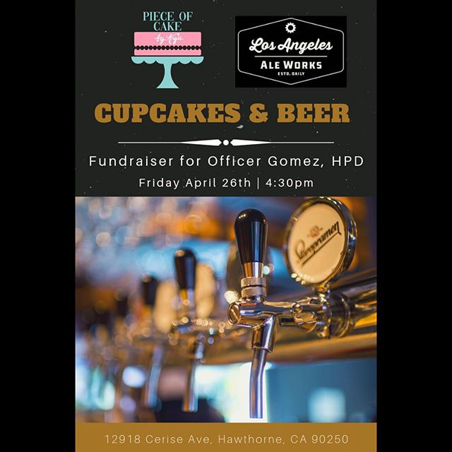 Thank you @pieceofcakebyangie and @laaleworks for putting this fundraiser together for Officer Gomez. This truly means the world to @lhim_inc because he is one of our volunteers, when he can and has the time aside from work he hasn't hesitated to help us out on our non profit events. Unfortunately Officer Gomez was shot as he was doing his job last week thankfully he is okay and recovering at this point. Please join us on April 26 2019 after 4:30pm at Ale Works in the city of Hawthorne 🖤 #Aleworks #pieceofcakebyangie #cakes #cupcakes #fundraiser #policeofficer #lawenforcement  #thinblueline