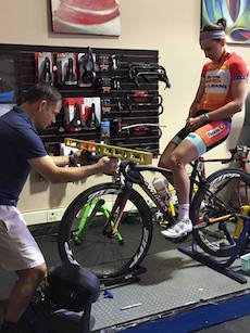 Megan Guarnier during her fit with Dave