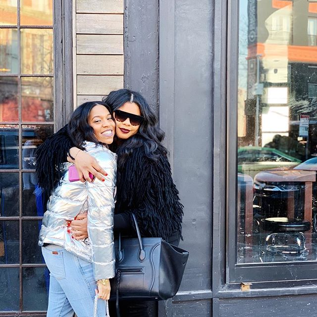 Fun fact: We hate hugging (although this photo says otherwise) 😂 @brilimitless ❤️✨ #seester • #Newyork #stylediaries #stylegram #style #prgirl #newyorklifestyle #nyclife #blackswhoblog #melanin #blackgirlswhoblog #browngirlbloggers #stylefile #whatiwore #ootd #thekljway #instafashion #outfitpost #streetstyle
