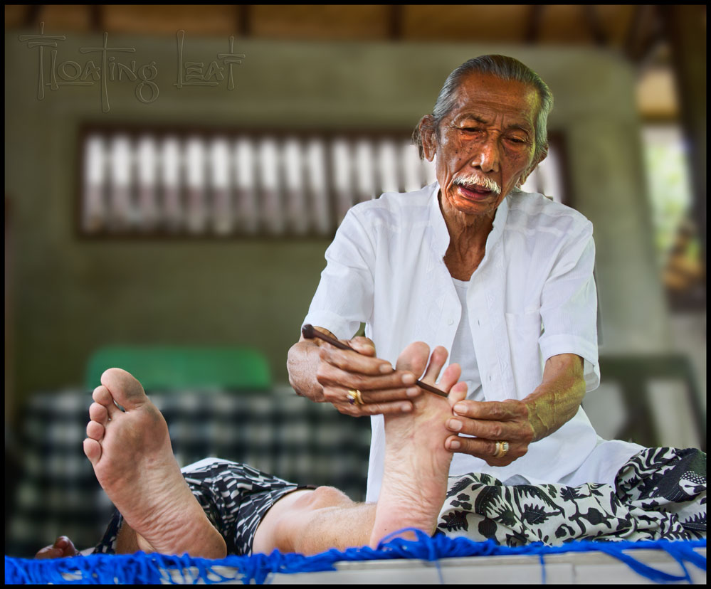 Image Courtesy of Floating Leaf, Bali - my FAVORITE visit to a Balian was with this man, Tjkorda Rai. Grandson to the last Balinese king, 93 years old, extremely intuitive, and with a deeply-felt spiritual presence. He told me things no one else could have naturally known, and left me feeling not only lifted in my energy, but as though I'd tapped into deep divine presence, as well.