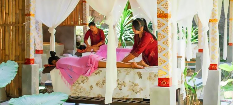 A sneak peek inside the spa at our resort in the heart of the Spiritual Center of Bali