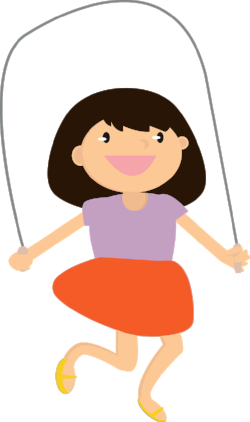 Girl skipping; treat language processing disorder at Canto Speech Therapy Online