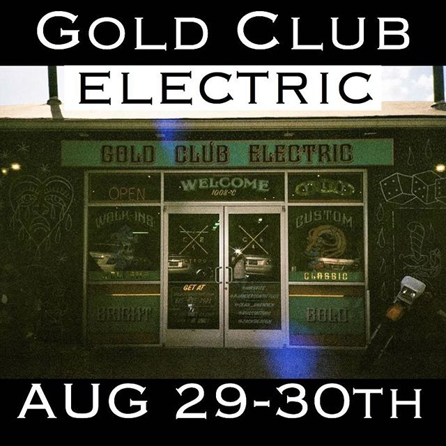 Excited and honored to be tattooing @goldclubelectrictattoo this month in Nashville. I'll have plenty of flash and line drawings to choose fun. Email tookerd@gmail.com to set something up. See ya there ✌️