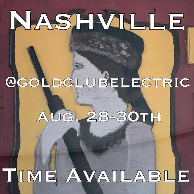 Nashville! I had a couple cancellations. More time opened up! Dm me to set something up @goldclubelectrictattoo