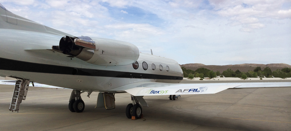 The Air Force purchased this Gulfstream GIII and gave it to NASA to test FlexFoil™,  Learn why.