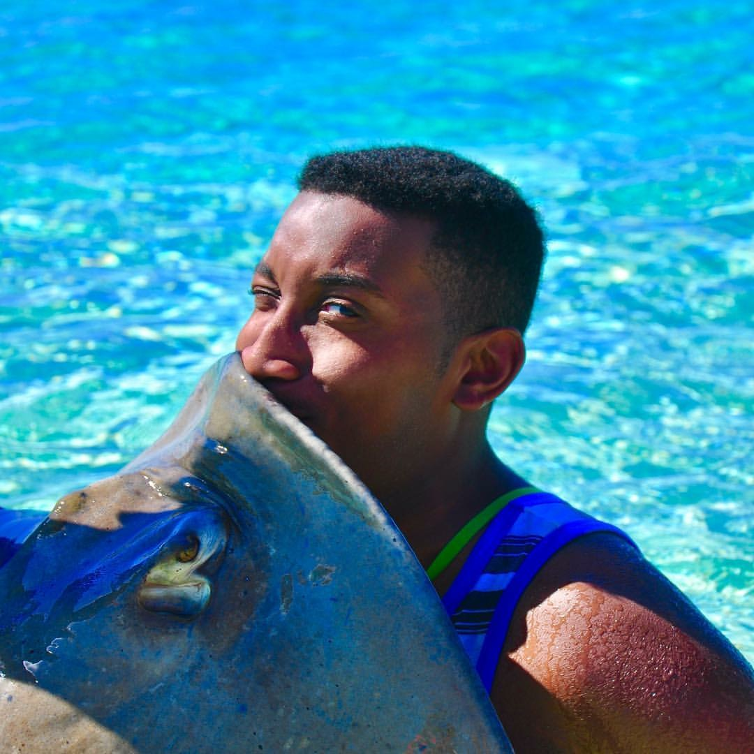 Yeah....... I'm not sure how much luck I was supposed to get from this... but it was an interesting experience to kiss a stingray in the Turcs and Caicos.