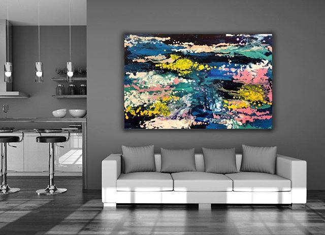 Tela disponível! 📍Quem quiser ver de pertinho é só passar na @stellahouse_moveis  Título: Fundo do Mar ou Poeira Cósmica (1.90x1.40m) • ___________________________________________________  #art #expressionism #abstractart #contemporarypainting #artecontemporanea #artsy #coloring #cor #brazilianart #juliastecca #juliasteccaart