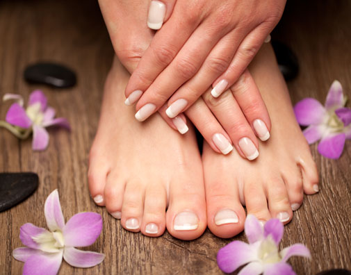 SPA MANICURE AND PEDICURE $60! -