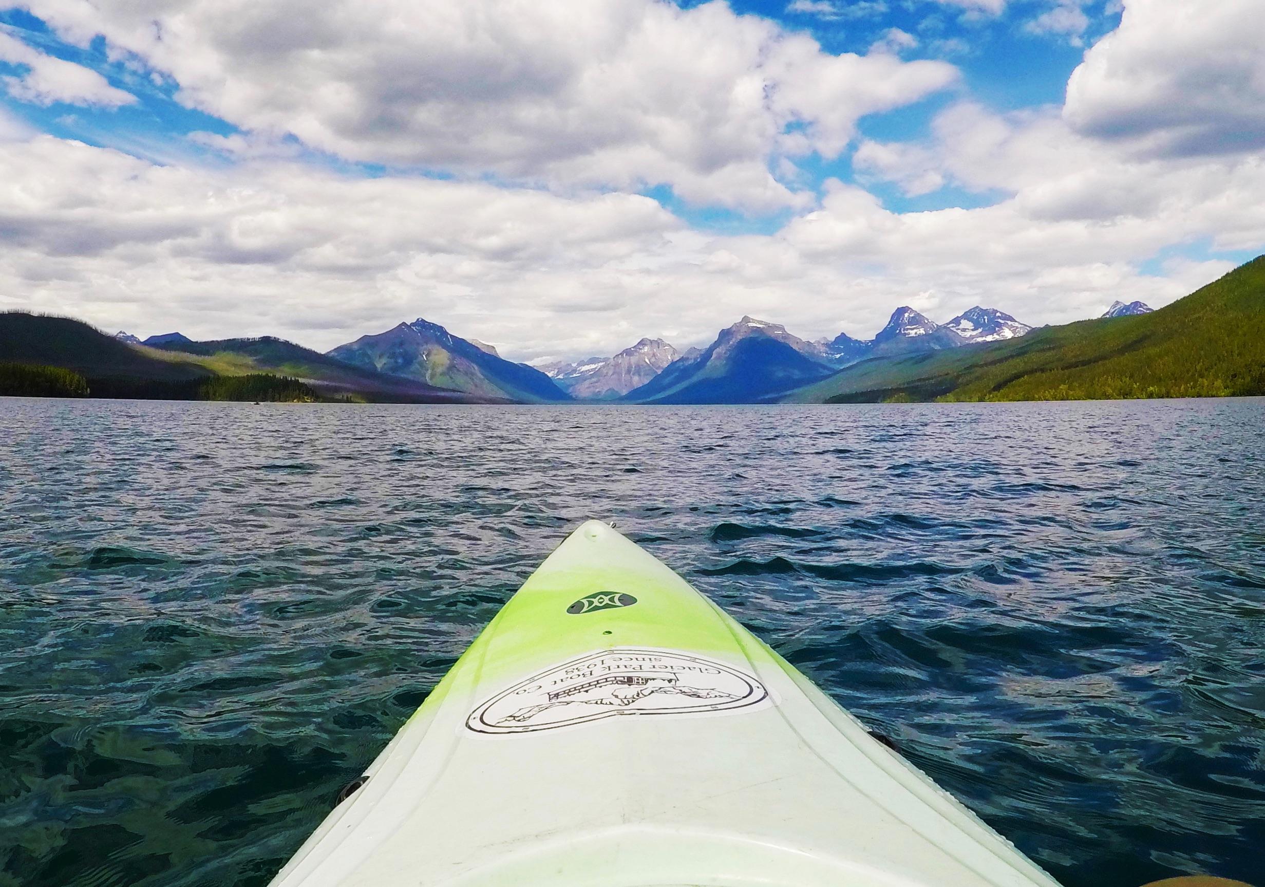 Kayaking on Lake McDonald, Glacier National Park