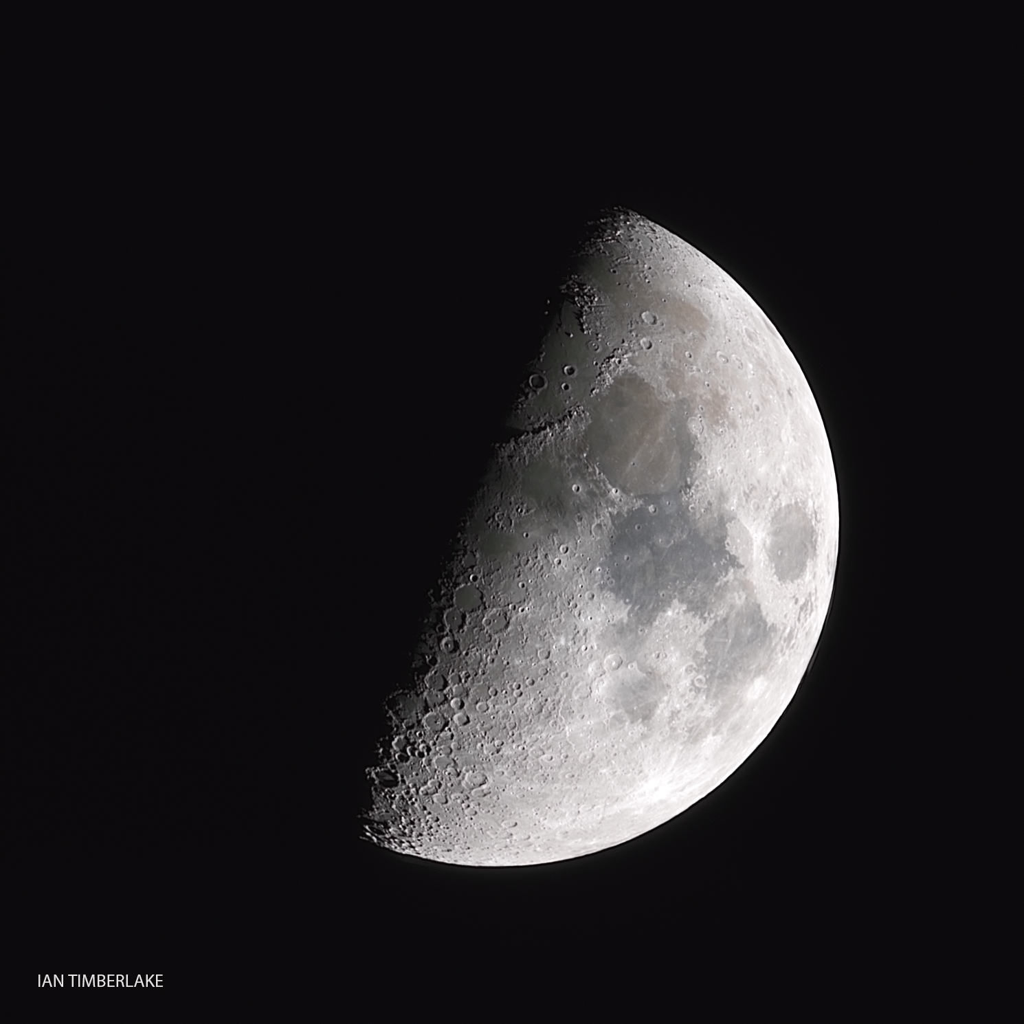 Half Moon photograph stack using many exposures and various programs.