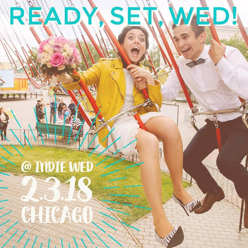 Our very first official Ette event is this Saturday! We will be sharing a booth with  Mignonette Bridal , and will be signing brides up for free alterations consultations! We will be on the first floor by the food (surprise.)  There are so many delightful wedding vendors at this show each year. Delicious food and drinks, delightful music, lots of little gifts and so many incredibly talented local vendors! We hope to see you there.   From the official  Indie Wed  site:    Saturday, February 3, 2018 |  10 am – 4 pm | Ravenswood Event Center     Entrance at 4043 N. Ravenswood Ave,  Chicago   Plenty of free parking is available along Ravenswood Ave.The venue is also 1/2 block north of the Irving Park brown line station.   Indie Wed will feature:   * Amazing vendors from the Midwest and beyond *three full floors of vendors *food & beverage tastings *musical performances *wandering models featuring spectacular bridal fashions * reusable canvas swag bag to the first 50 brides/grooms-to-be in line (1 per household) *a special Wedtoberfest-themed lounge with lots of surprises *and much more  Please note that online ticket sales end at 12 pm on Friday, February 2, 2018   Tickets are priced as follows:     Advanced Online = $15/single or $25 /couple    Day Of   / At The Door = $20/person cash or through app online