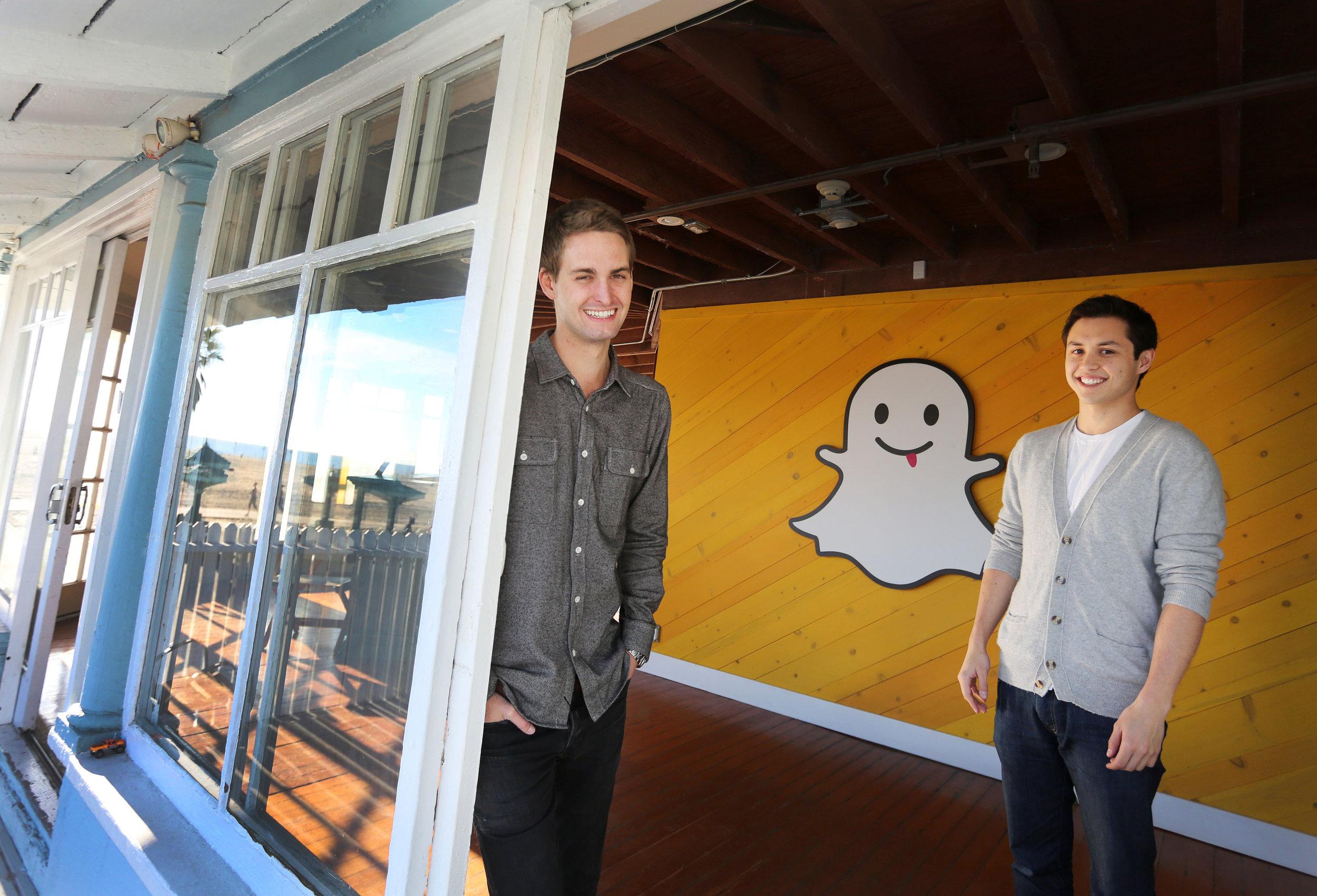 Evan Spiegel &Bobby Murphy, Founders,Snapchat