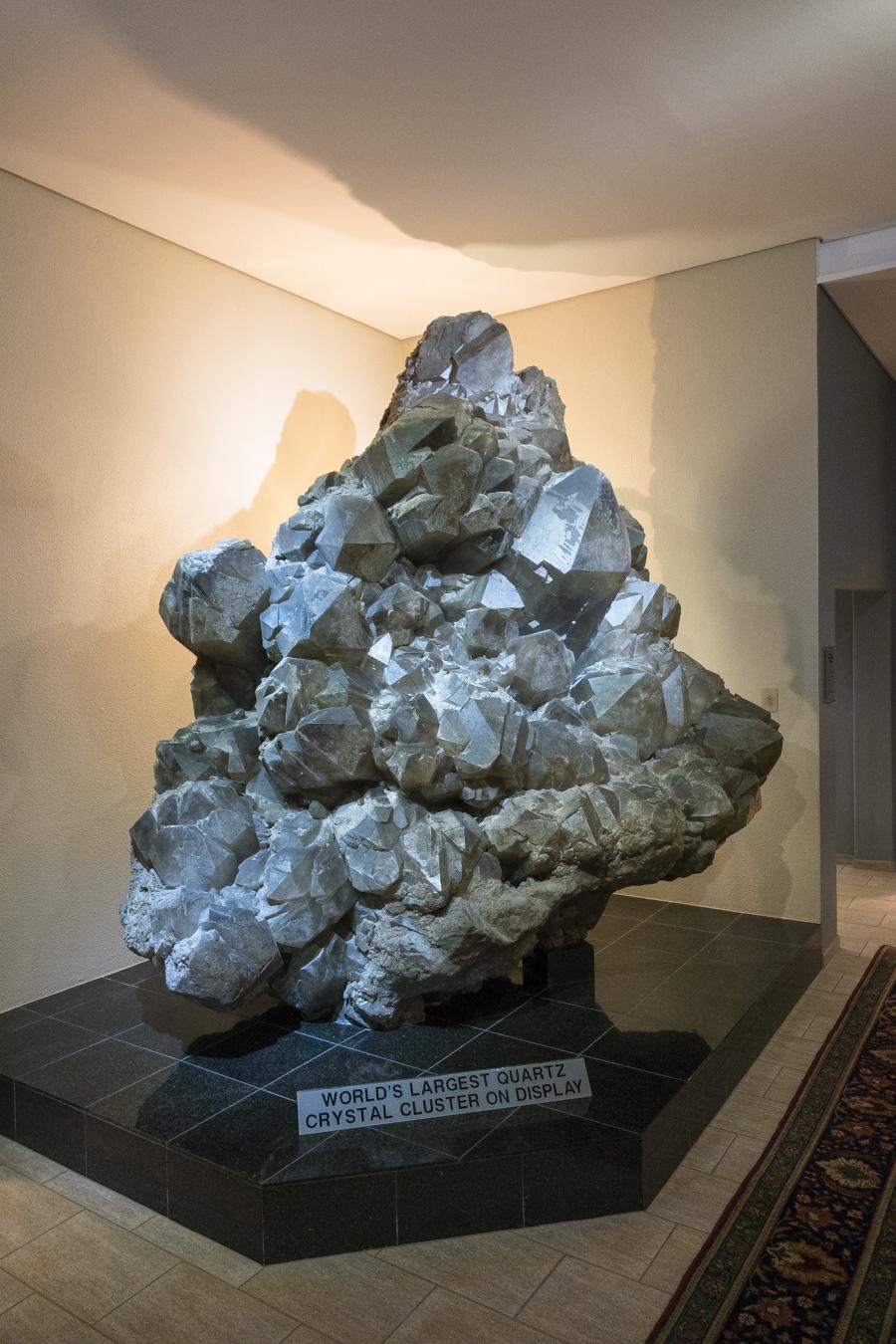 World's largest quartz crystal